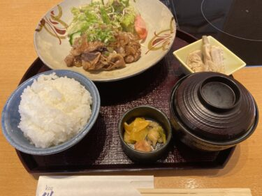 紺の日替わりランチ「生姜焼き」