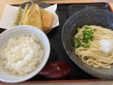 お昼は麺天で